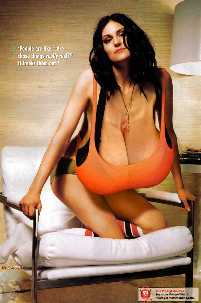 Morgan webb breast pictures