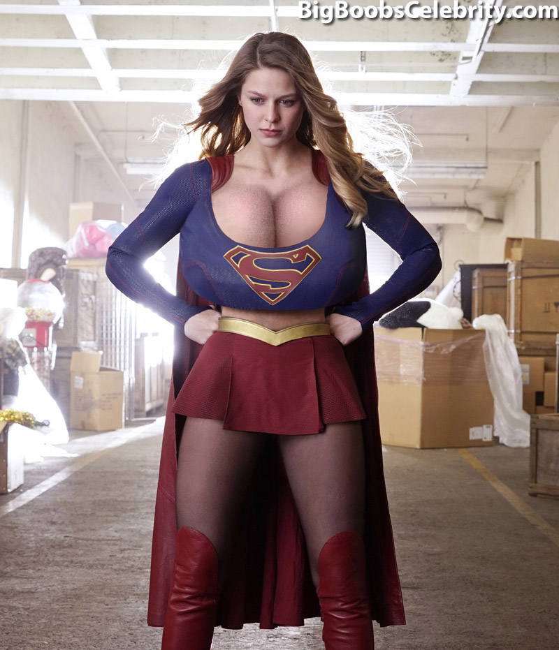 supergirl sexy costume tits Big