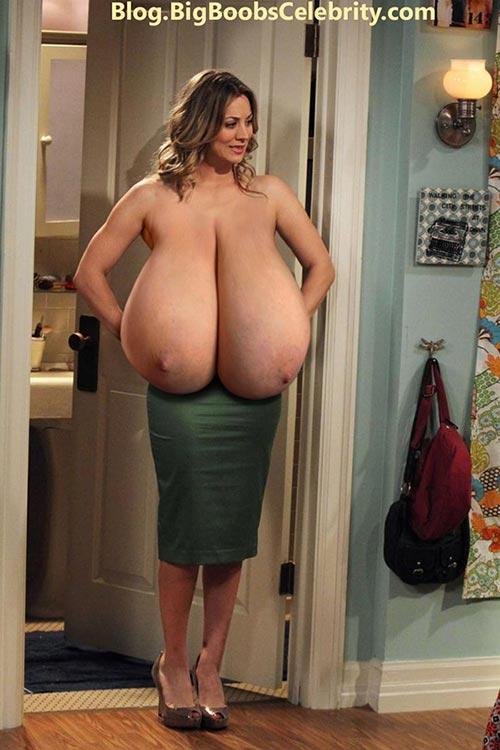 Kaley Cuoco huge saggy tits