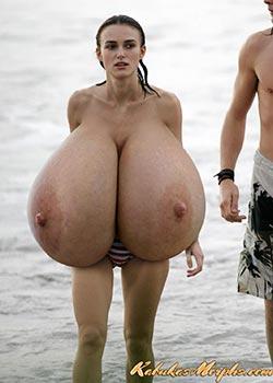 Tits giant saggy Big Saggy